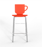 modern cup chairs high seat plastic dining chairs with foot rest