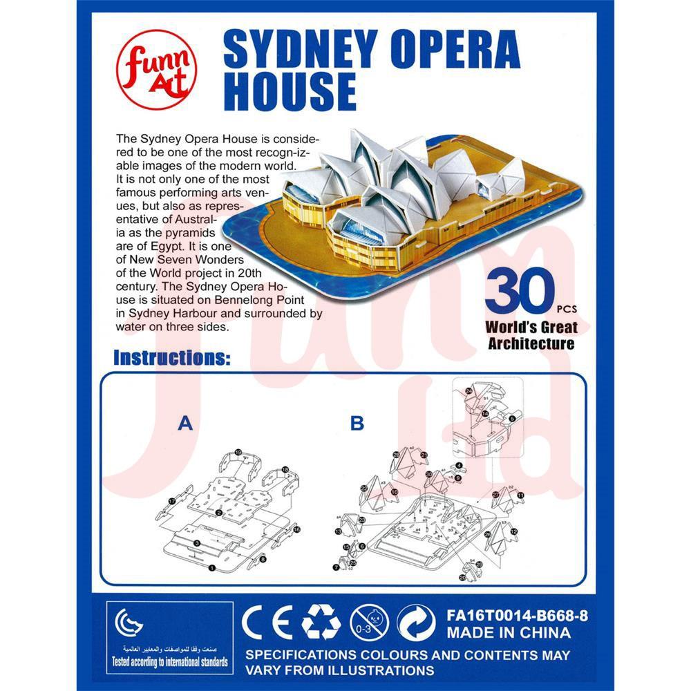 빌딩 블록 퍼즐 디자인 3D 퍼즐 판지 지그 소 퍼즐-시드니 오페라 ...
