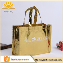 Wholesale reusable Metallic Color Laminated PP Non Woven Shopping Bag