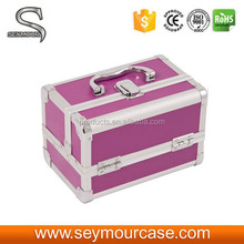 Aluminum Cosmetic Makeup Organizer Travel Case