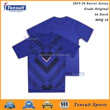 Grade ori best quality strip soccer jersey short sleeve unisex soccer blank kits