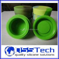 FDA approved non-stick wax oil container storage jar, non stick silicone container concentrate oil wholesale