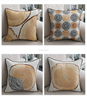 fantastic stylish realistic wooden stake timber pile graphics digital printed home dec chair linen sofa cushion pillow case