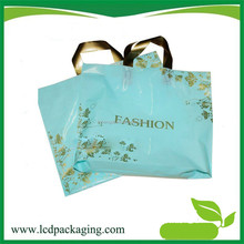 HDPE Soft Loop Plastic Shopping Bag on Bluk