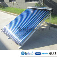 INMETRO certificate 2015 New project solar collector with manifold/frame/and solar vacuum tube for Brazil/Brasil market