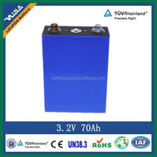 rechargeable 3.2V 65Ah battery LiFePO4 e-vehicle battery