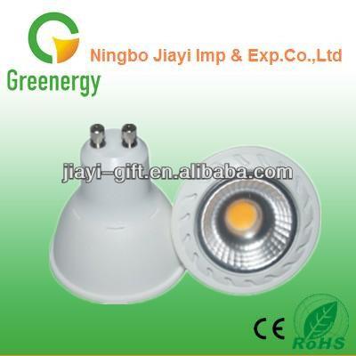 Cob 8.2w 620lm gu10 led spot ac220-240v cob led centro de atención