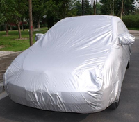 High quality Poly textile for unbrella silver coated car cover fabric