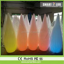 Events Decorative Plastic PE RGB Color Changing Led Pillar/Led Pillar Light/Pillar with Led Light