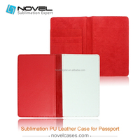 2015 Economic and Applicable blank sublimation pu leather case for passport