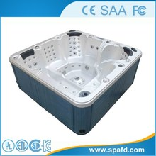 CE&FCC&SAA air jet massage outdoor spa hot tub freestanding family party made in china