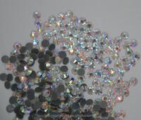 shiny ss16 crystal AB iron on rhinestone hot fix rhinestone for garment