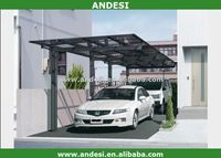 Outdoor glass roof metal car garage port