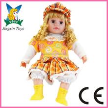 2015 new kid juguetes educativos muñeca con real pelo gafas zapatos de muñeca american girl