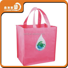 WENZHOU full color d cut non woven shopping bag