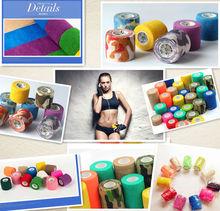 CE/FDA/ISO Qualified Non-woven Elastic Medical Cohesive Bandage bandages for surgical/sport/athletes