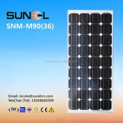 90wp solar panel price per watt for home solar system