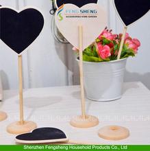 10pcs Fashion Wedding Love Heart Chalkboard Blackboard Memo Table Numbers Place Office