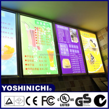 Aluminum Slim LED Illuminated Indoor Wall Sign