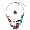 cross resin choker necklace, vintage women necklace jewelry set(SWTJUQM526)