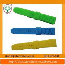 Durable material and trendy design silicone rubber wrist watch straps