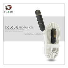 Jelly 2 in 1data usb cable, usb data line for iPhone 5 6 and Android Phones