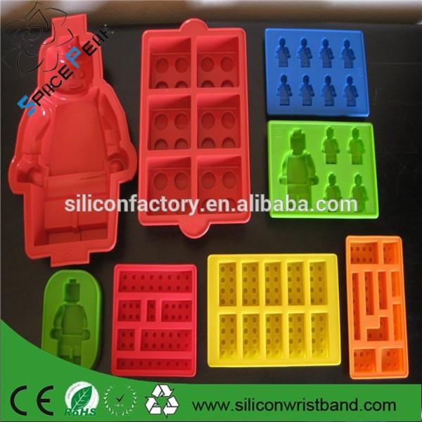 Lego Minifigure e tijolos Silicone Chocolate Mold Baking bolo de molde de Silicone de gelo