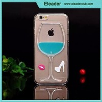 for iphone 6 plus creative plastic crystal red wine glass case