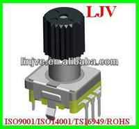 11mm size stepped rotary switch with pulse/detent for instruments