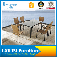 Artistic garden furniture cheap dining table and relaxed 6 chairs specific use