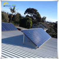 solar adjustable roof mounting system for home use on pitched roof