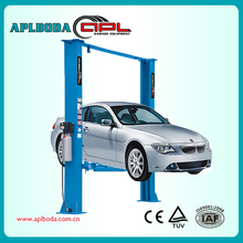 Clean Floor One Side Release Hydraulic Two Post Car Lift with CE