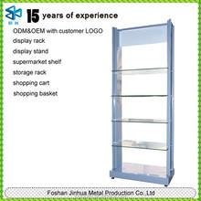 Customized collapsible decorative wine bottle shelf/candy shelf/chocolate standing storage shelf