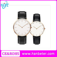 Classic popular watches japan movt quartz couple watches with sapphire crystal glass