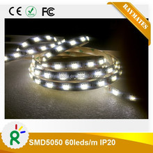 NEW ARRIVAL TRANSPARENT WHITE 5050 IP20 60LED/M,16-18LM/LED