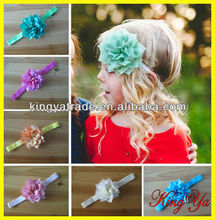 Hot Handmade Silk Flowers Headband For Girls Hair Ornament and Top Baby Headband Hairband with Flowers (KY84385)