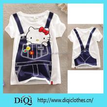 100% cotton hello kitty t shirt hello kitty clothes bulk wholesale clothing