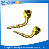 Good quality nickel plated elbow hose fittings forged tubing fittings