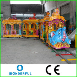 New fun kids play games rides theme park elephant track train track for sale