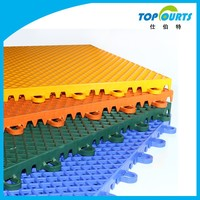Plastic interlocking workshop/sport court/gym floor tiles