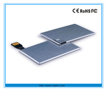 China Factory wholesale promotional super thin credit card 256gb usb 3.0 usb flash drive
