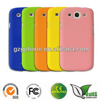hard PC phone case for Samsung Galaxy S3 i9300 with rubber coating