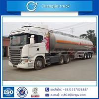 New design for customized hot sale aluminum alloy air suspension BPW tri-axle oil semi trailer,fuel semi trailer truck
