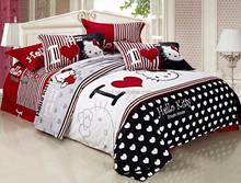 High quality 100% cotton HELLO KITTY bed set children 4 pcs Bedding set
