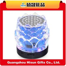 Factory direct promotional music lotus bluetooth portable mini speaker