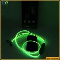 For iphone 5 6s 3.5mm running sports glow in dark headphone earphones