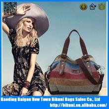 2015 printed ladies' canvas and leather handbag at low price,ladies handbag manufacturers
