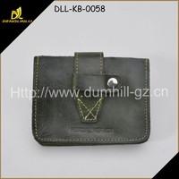 Green Fancy Leather Credit Card Holder Wallet Supplier