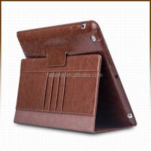 2015 QIALINO high quality cover with stand function genuine leather case for ipad air