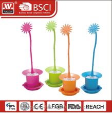 Haixing plastic toilet brush with FLOWER POT base